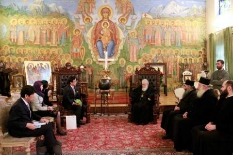 Meeting of Ambassador Uehara with the Patriarch of the Georgian Orthodox Church<br />